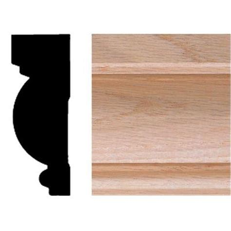 Chair Rail Molding Home Depot by House Of Fara 1 In X 2 3 4 In X 8 Ft Oak Casing Chair