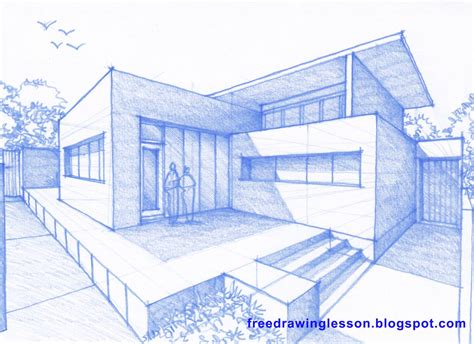 how to draw houses how to draw a big house