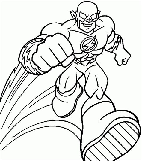 superhero coloring pages easy the flash superhero coloring pages coloring home