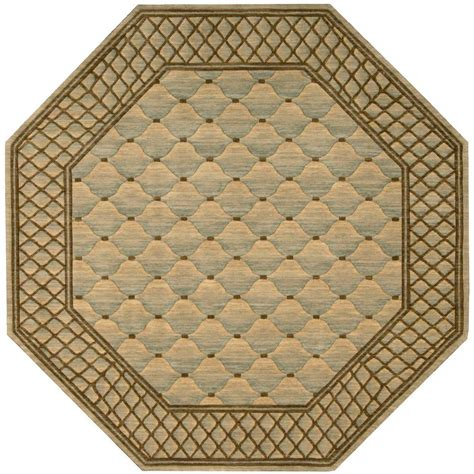 Octagon Outdoor Rug Nourison Vallencierre Light Green 8 Ft Octagon Area Rug 622495 The Home Depot
