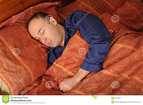 man in bed sleeping man in bed royalty free stock photography image 8115297