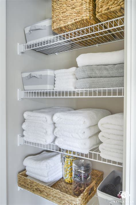 organized bathroom linen closet anyone can kelley nan