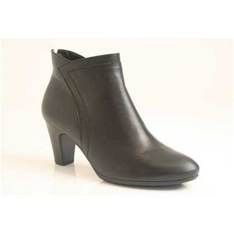 gabor boots gabor quot encounter quot ankle boot in black leather with grained