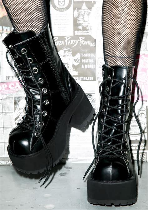 demonia boots demonia pressure platform boots dolls kill