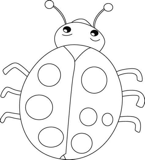 Ladybug Coloring Pages For Preschoolers | ladybug smiles stomach cries coloring pages coccinelles