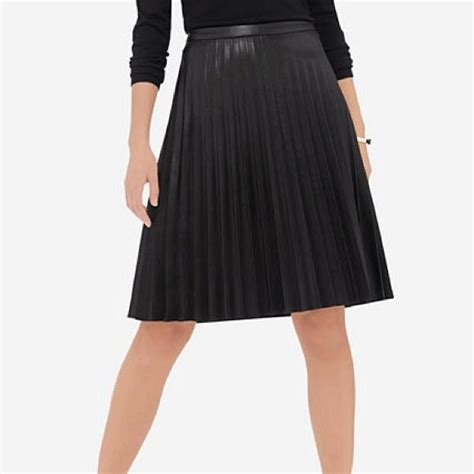 10 ideas about leather midi skirt on pleated