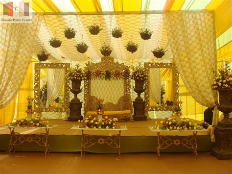Stage Decorations by Mehandi Designs World Indian Beautiful Marriage Stage