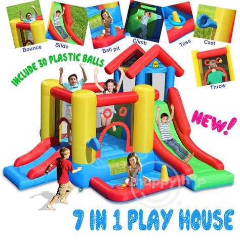 Happy Hop 9004b Air Baloon Hoop Bouncer Jump 1 bouncy with slide combo 9160 bouncer slide pool swiftech company ltd