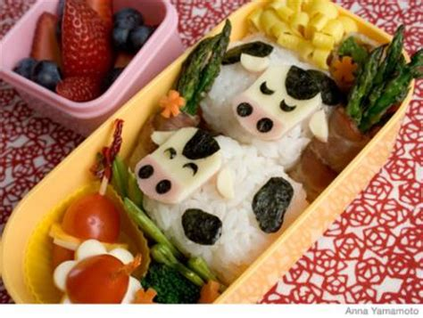 how to make a cow bento lunch box | parenting