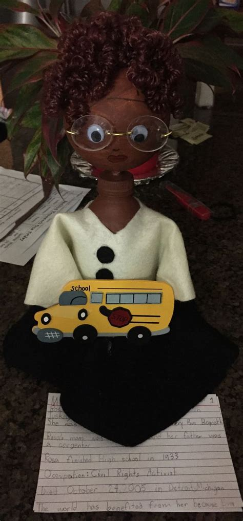 biography bottle buddies rosa parks bottle buddy love love love pinterest