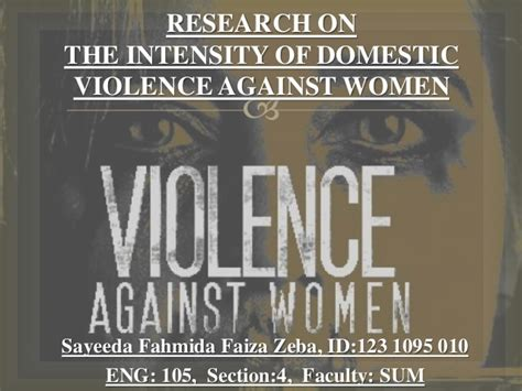 Miami Dade Domestic Violence Search Research Presentation On The Intensity Of Domestic Violence Against W