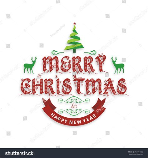 merry and happy new year card template 2018 merry happy new year stock vector 755904796