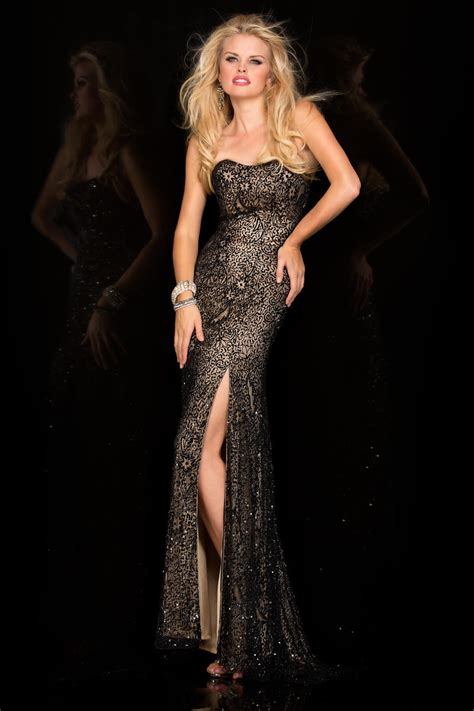 Mm Slkalla Dress scala 48590 gown with intricate beading novelty