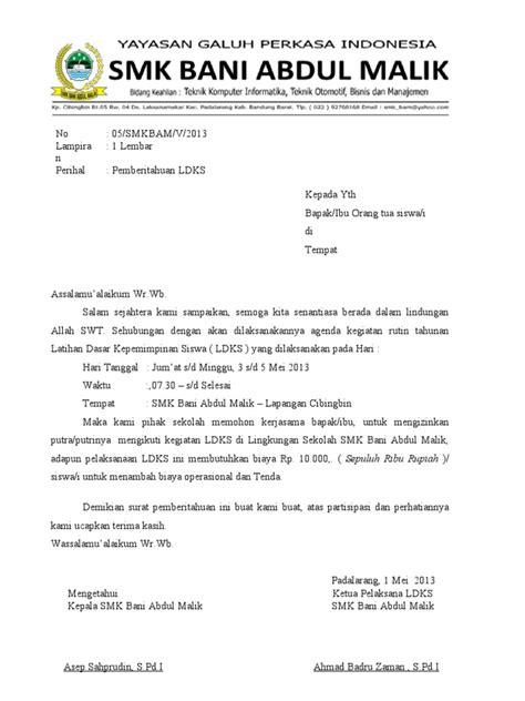 format surat pernyataan siswa bermasalah contoh surat pemberitahuan ldks smk