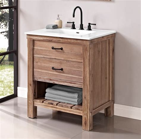 open bathroom vanity napa 30 quot open shelf vanity sonoma sand fairmont