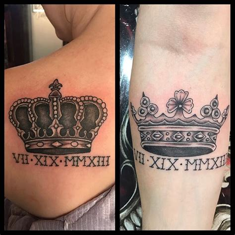 his and her crown tattoos tattoo collections