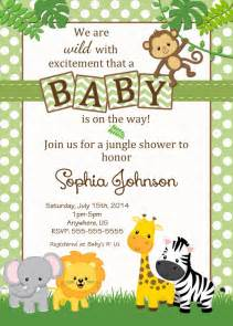 safari themed baby shower invitation templates baby shower jungle theme invitations