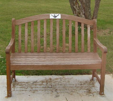 white oak bench mike scrocca memorial web site memorial tribute bench