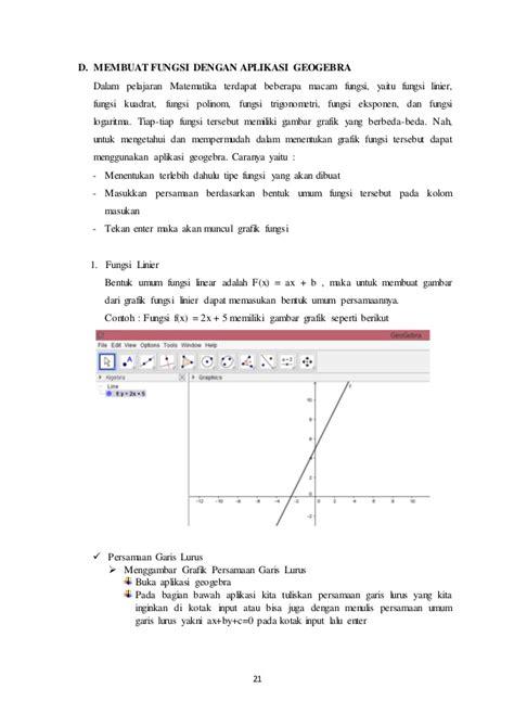 membuat makalah matematika makalah quot pemanfaatan aplikasi geogebra pada pembelajaran