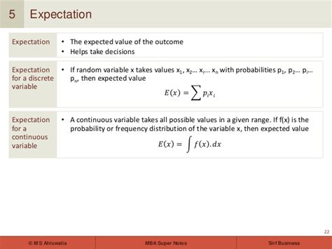 Mba Business Statistics Notes by Mba Notes Statistics Introduction To Probability