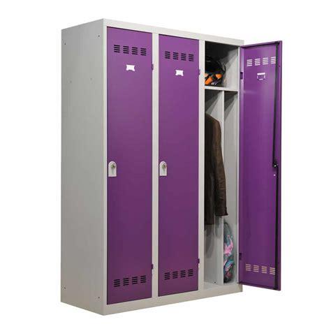 Vestiaire Industrie Salissante 3 cases 120cm   Armoire Plus