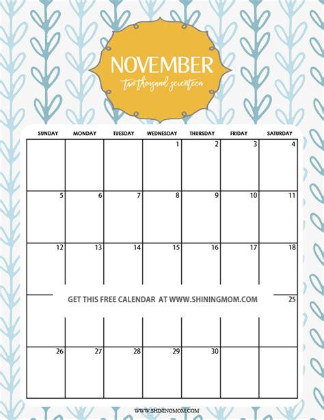 printable november 2017 calendar pretty free printable november 2017 calendar 12 beautiful designs