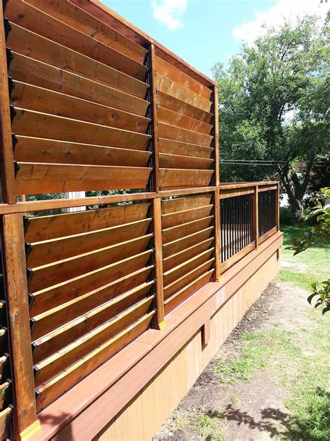 backyard screening ideas deck railings flex fence louver system