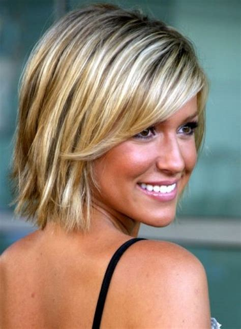 hairstyles for fine hair with highlights short blonde haircuts