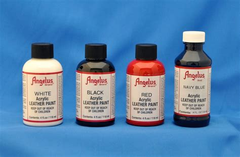 angelus acrylic paint 4 oz leather vinyl sneakers 14 primary colors 1 bottle ebay
