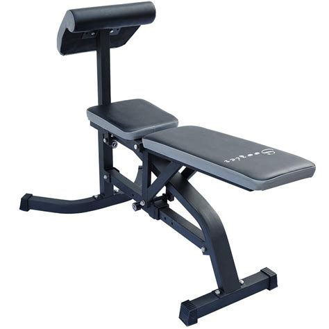 bench for exercise soozier exercise weight bench w preacher curl