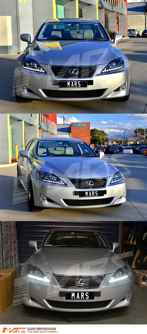 jdm lexus is350 lexus is250 is350 isf jdm black led drl day time projector