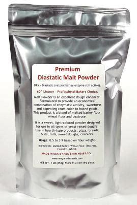 Diastatic Malt Powder 1 Lb diastatic malt powder 1lb bag malt 60