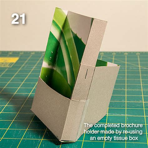 How To Make A Brochure Handmade - diy make your own brochure holder from a tissue box