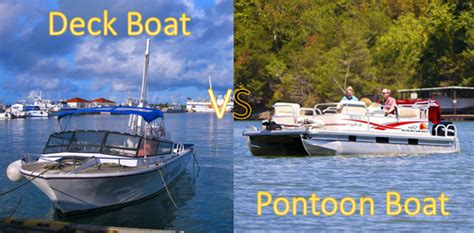 fishing boat vs deck boat deck boat vs pontoon boat