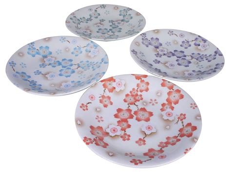 blossom free plate season of cherry blossoms assorted colors japanese plates