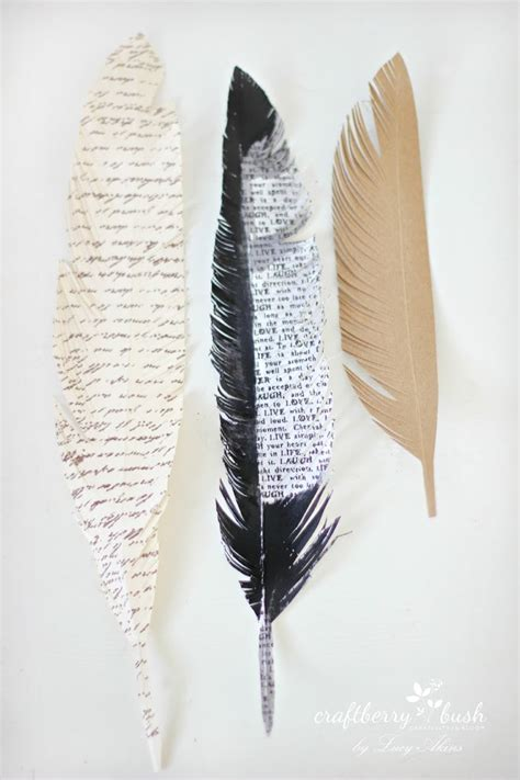 Feathers Out Of Paper - paper feather wreath tutorial