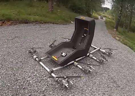 silla voladora un ingeniero crea una silla voladora que se controla como