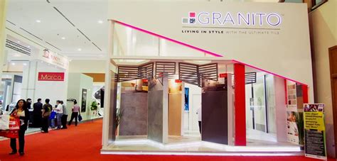 Granito Salsa 2 granito tiles at indobuildtech 2015 exhibition
