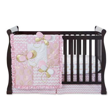 Butterfly Crib Bedding Tender Kisses Infant Reversible Comforter Crib Sheet Crib Skirt Butterfly