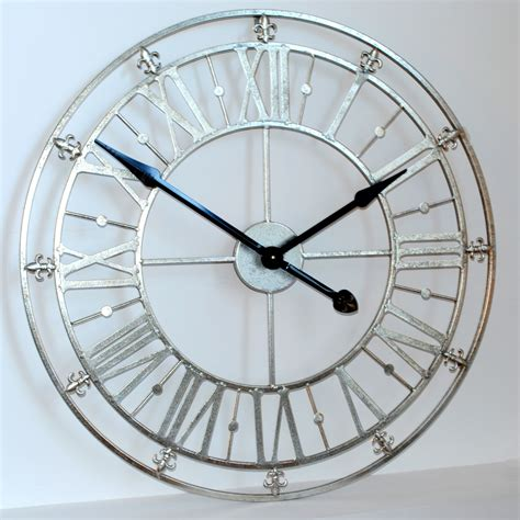 modern silver clock contemporary wall clocks silver oversized contemporary