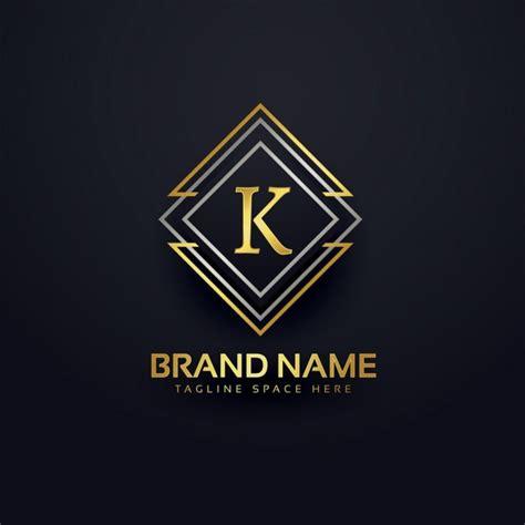 free luxury logo design luxury logo for letter k vector free download