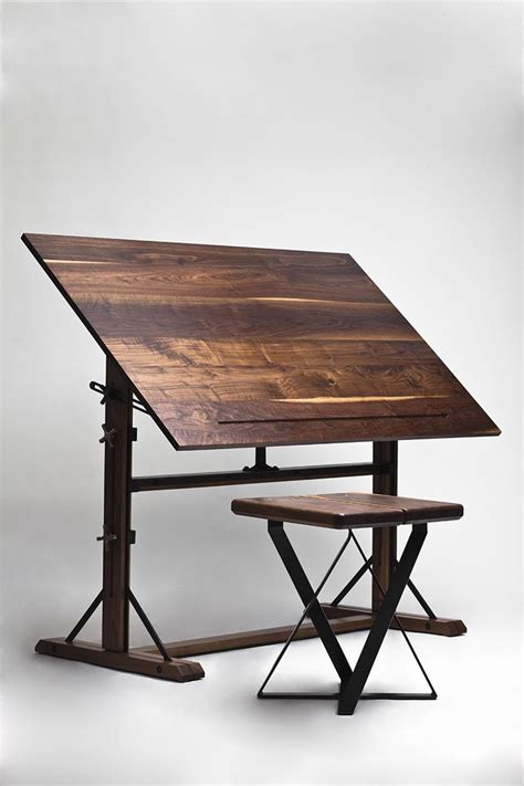 Wood Drafting Table Free Wooden Drafting Table Plans Woodworking Projects Plans