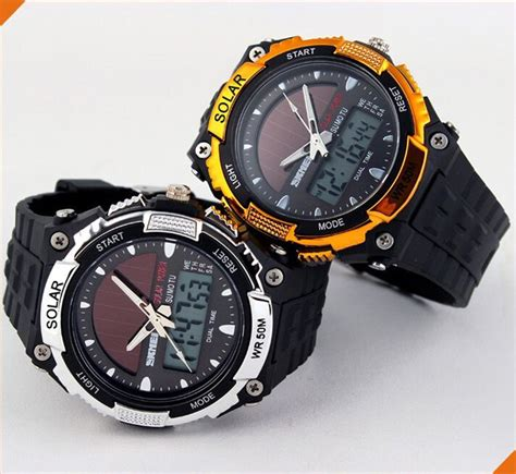 Jam Skmei 1129 Solar Power Hitam skmei solar power led water resistant 50m hitam