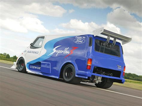 ford transit supervan  rear angle  wallpaper