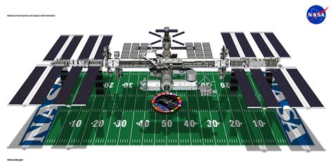 International Space Station Interior Layout by Shuttle Docked With The Iss Space
