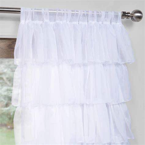 layering curtains with sheer amelia layered ruffle sheer curtain half price drapes