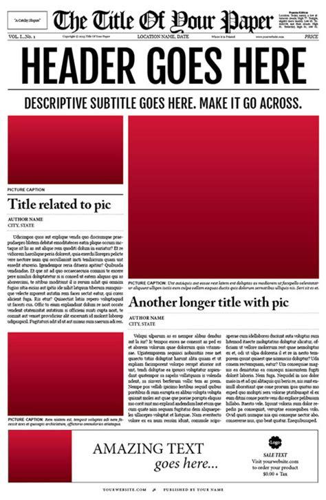 Free Newspaper Template   e commercewordpress