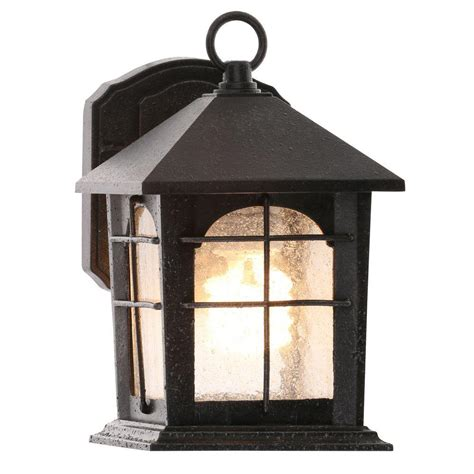 wall lantern outdoor lighting home decorators collection waterton 1 light ridge