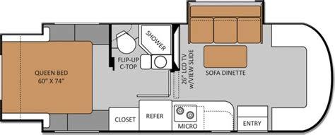 24 foot motorhome floor plans love the 2 slide outs 24sr class c diesel motorhomes