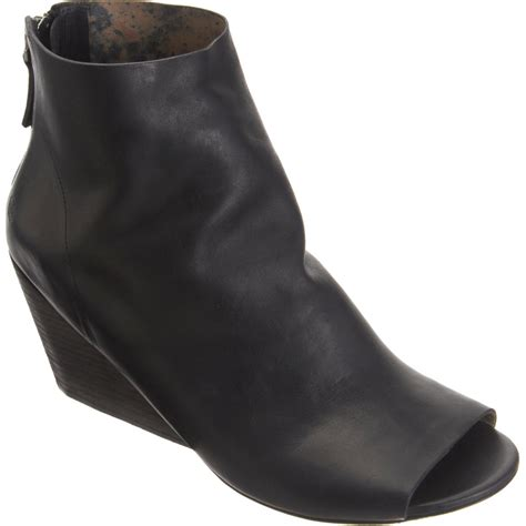Wedges Boot 1 mars 232 ll open toe wedge ankle boot in black lyst